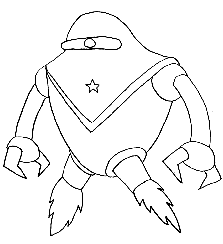 Drawing 19 Aliens and Martians coloring page to print and coloring