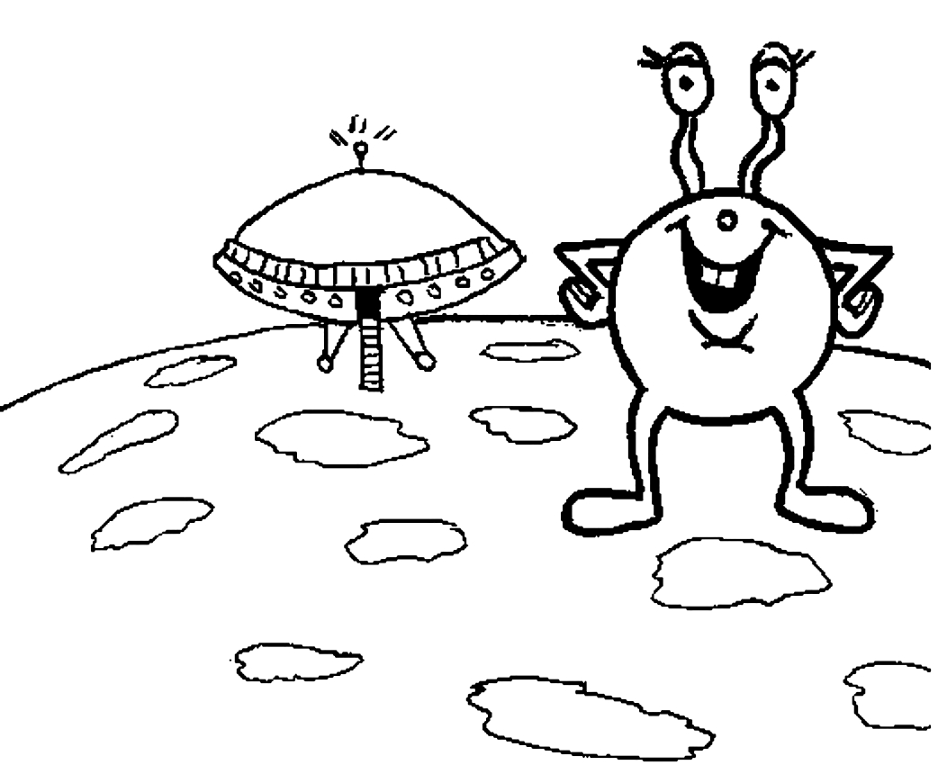 Drawing 21 Aliens and Martians coloring page to print and coloring