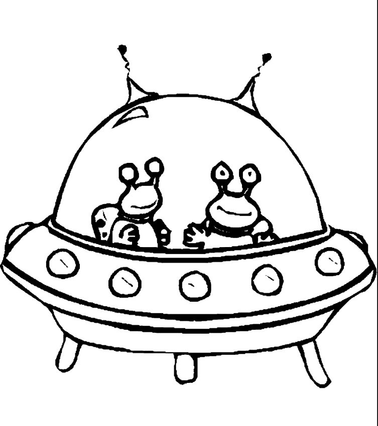 Drawing 24 Aliens and Martians coloring page to print and coloring