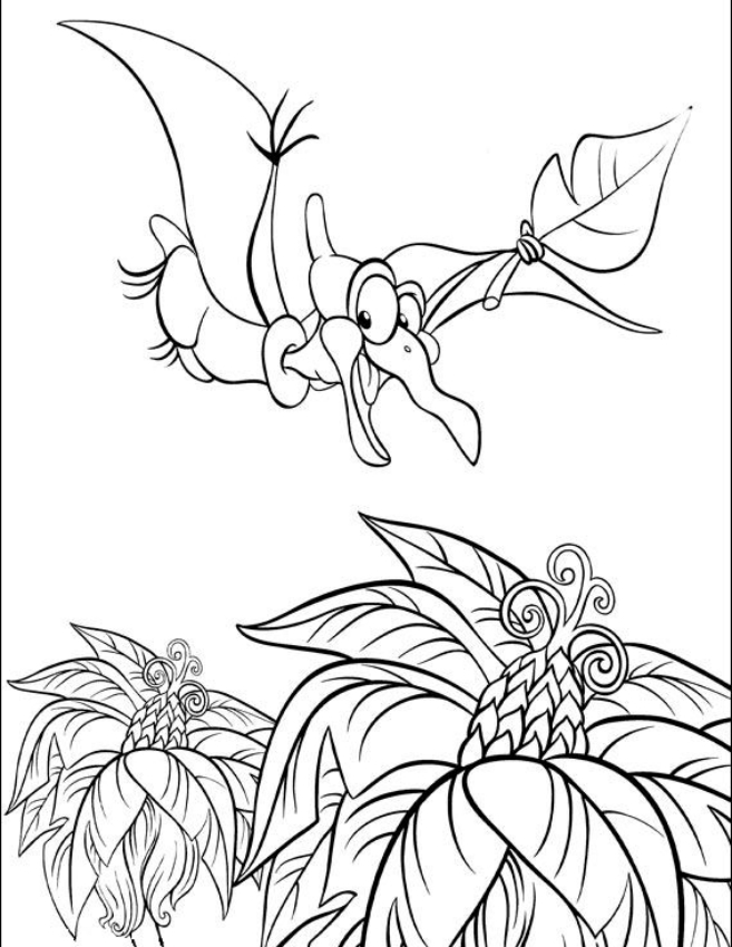 - Petrie From The Land Before Time Coloring Page