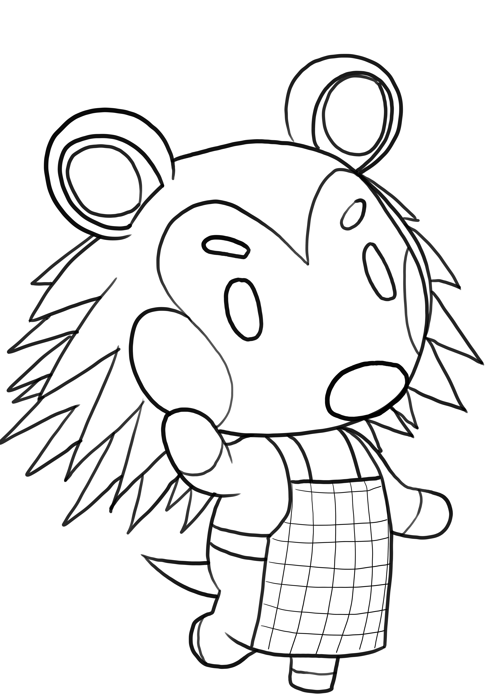 Coloriage de Agostina de Animal Crossing is imprimer et colorier