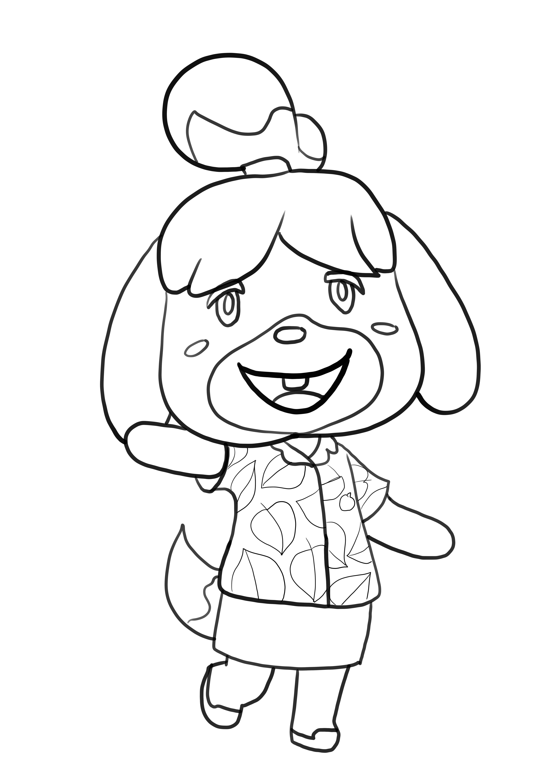 Coloriage de Fuffi de Animal Crossing is imprimer et colorier