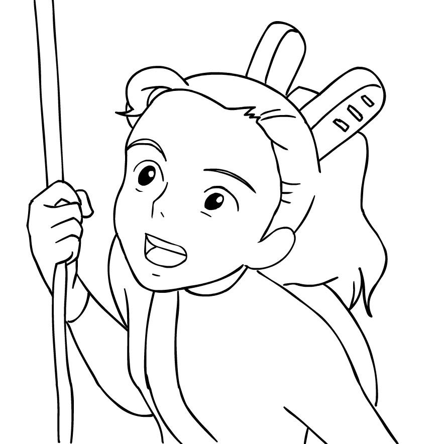 Desenho de Arrietty  para imprimir e colorir