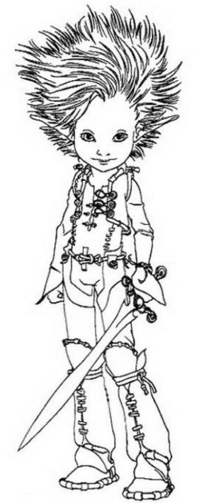 Desenho 1 de Arthur and os Minimoys para imprimir e colorir