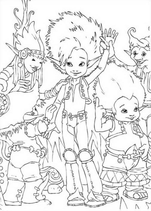 Desenho 2 de Arthur and os Minimoys para imprimir e colorir