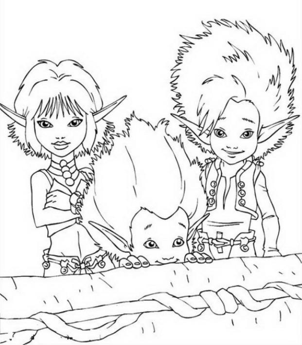 Coloriage 3 De Arthur Et Les Minimoys