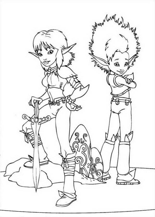 Desenho de Arthur and os Minimoys para imprimir e colorir