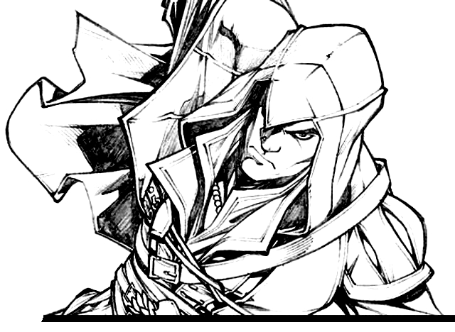 Drawing 7 from Assassin's Creed coloring page to print and coloring
