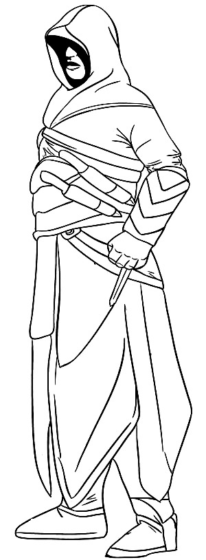 Drawing 12 from Assassin's Creed coloring page to print and coloring