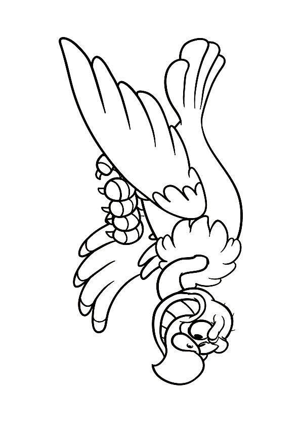 Disegno 3 di Avvoltoi da stampare e colorare