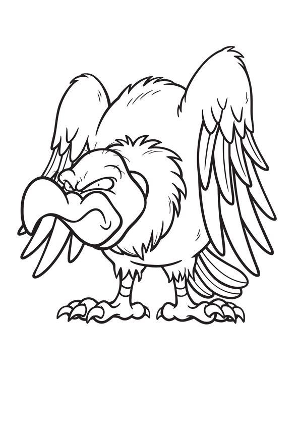 Disegno 11 di Avvoltoi da stampare e colorare