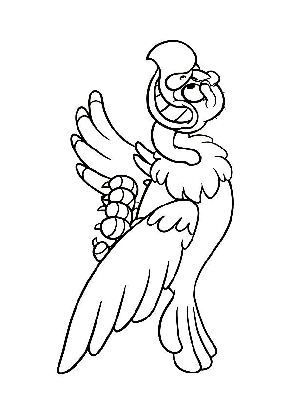 Disegno 21 di Avvoltoi da stampare e colorare
