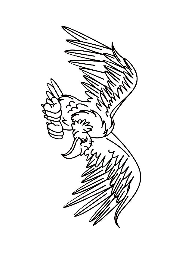 Disegno 24 di Avvoltoi da stampare e colorare