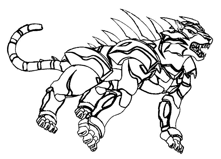 Drawing 4 From Bakugan Coloring Page