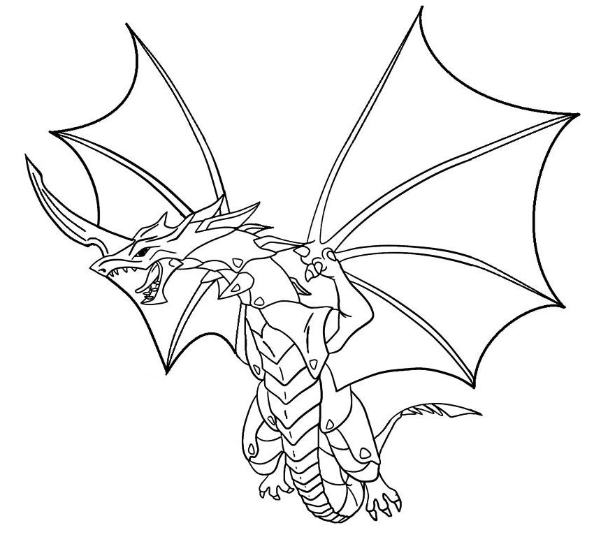 Desenho 10 de Bakugan para imprimir e colorir