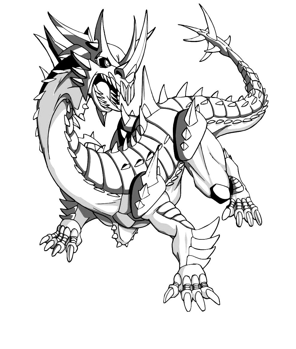 Desenho 17 de Bakugan para imprimir e colorir