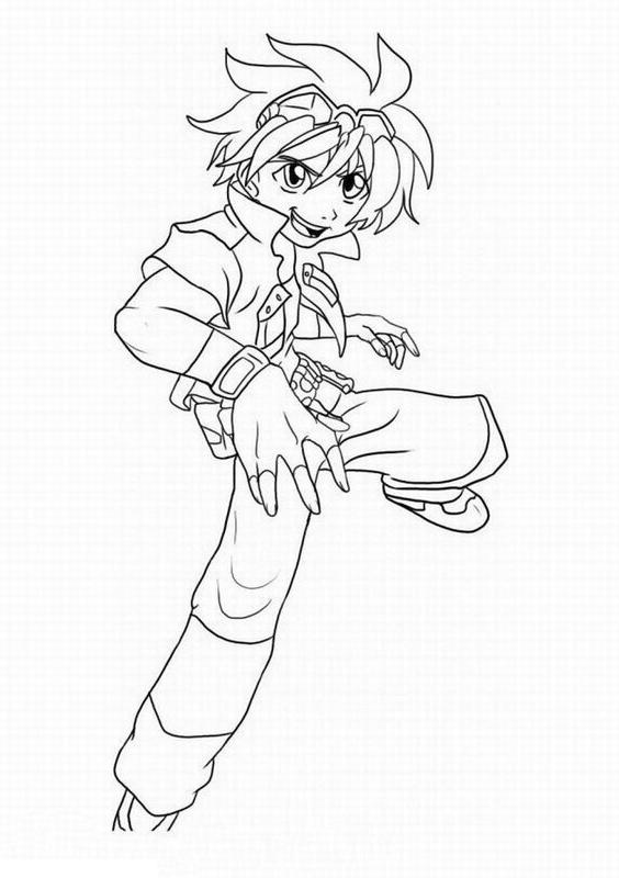 Desenho 19 de Bakugan para imprimir e colorir