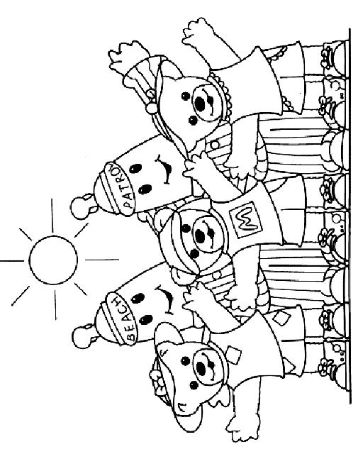 Dibujo 8 de Bananas en pijama para imprimir y colorear