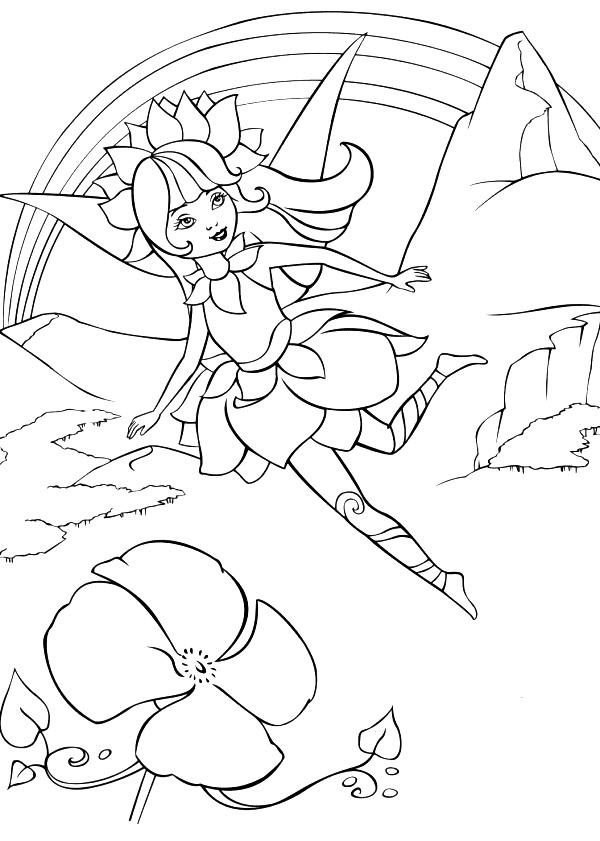 Disegno 4 di Barbie Fairytopia da stampare e colorare