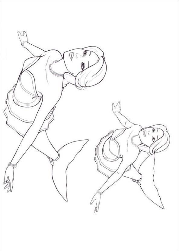 Dibujo 8 바비 마리포사 파라 임 프리미어 컬러 컬러