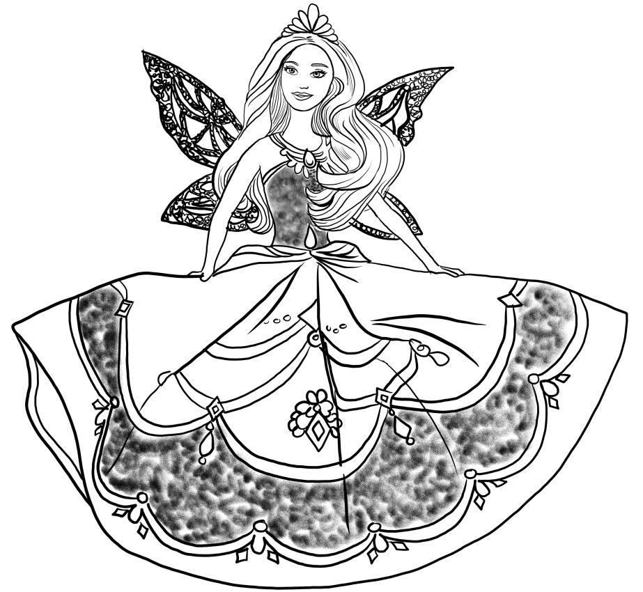Dibujo 14 바비 마리포사 파라 임 프리미어 컬러 컬러