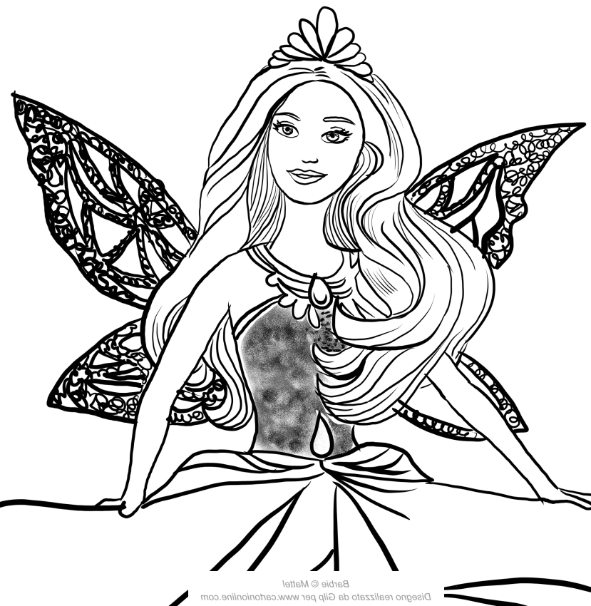 Barbie Mariposa Coloring Pages For Kids | Coloring Pages For Kids ... | 850x829