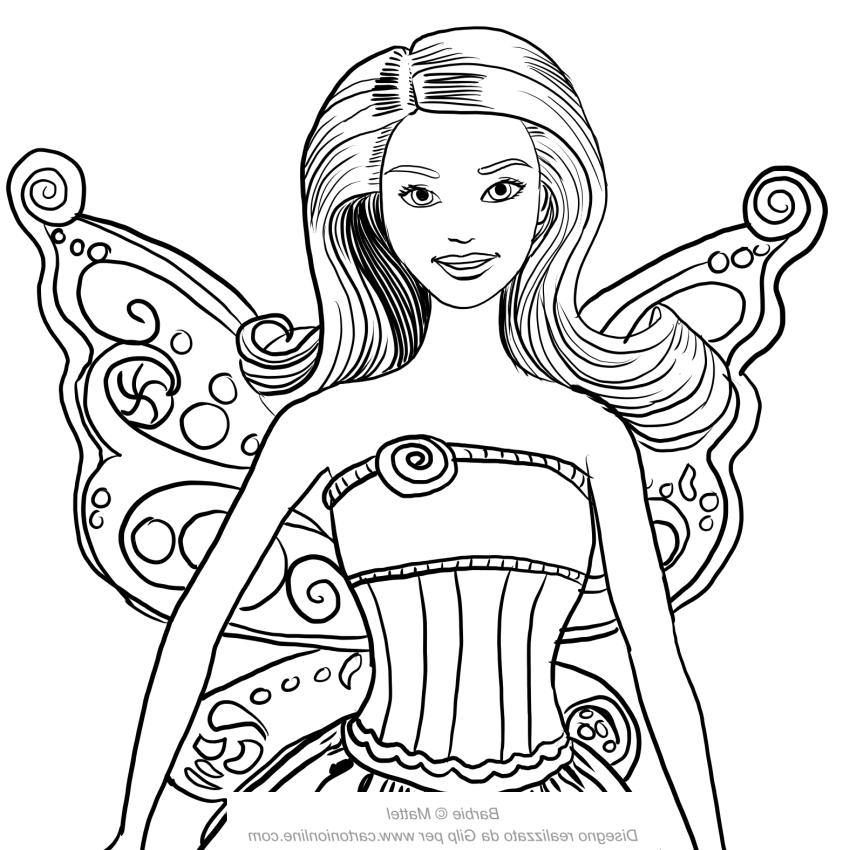 Dibujo 19 바비 마리포사 파라 임 프리미어 컬러 컬러