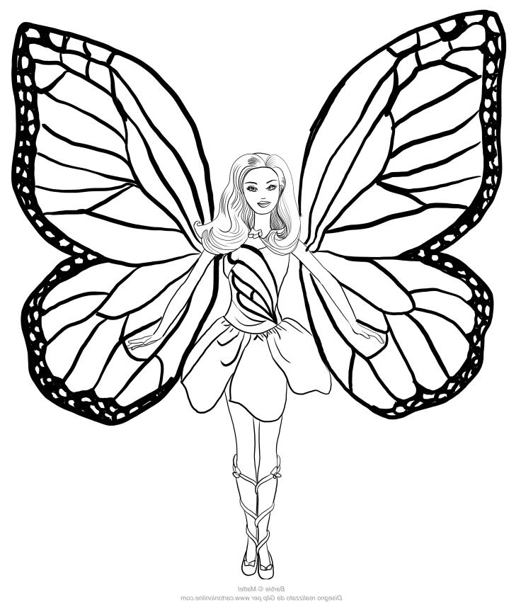 Dibujo 20 바비 마리포사 파라 임 프리미어 컬러 컬러