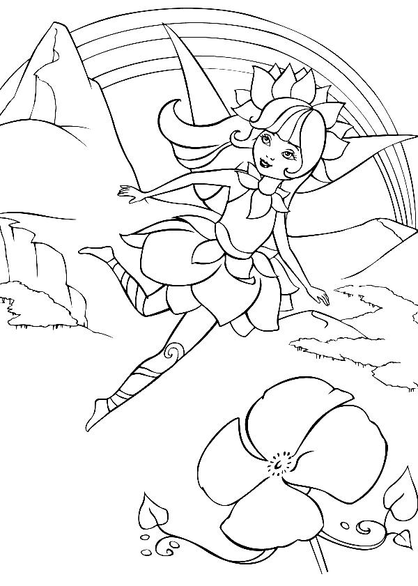 Dibujo 22 바비 마리포사 파라 임 프리미어 컬러 컬러