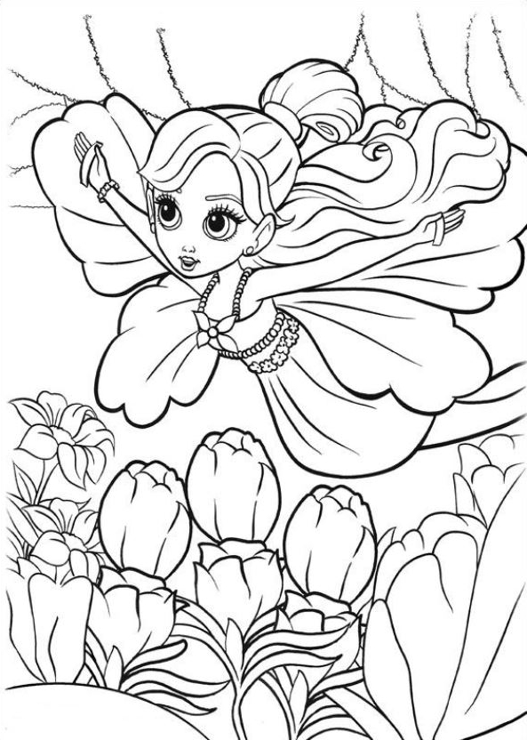 Coloring Pages - Thumbelina Page 10   832x593