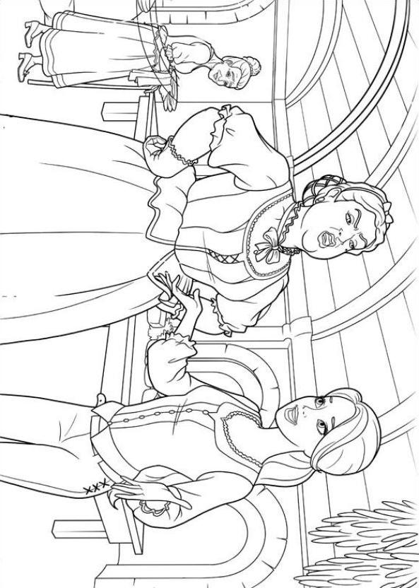Coloriage 4 de Barbie etlesTroisMousquetaires imprimeretcolorier