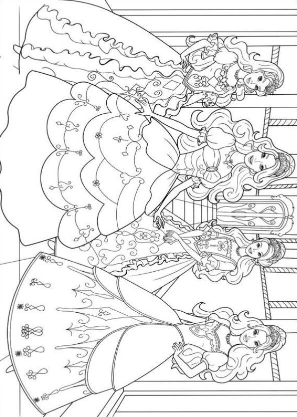 Coloriage 12 de Barbie etlesTroisMousquetaires imprimeretcolorier
