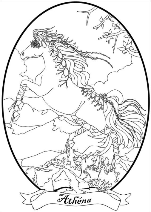 Bella Sara Native Lights coloring page | Free Printable Coloring Pages | 709x506