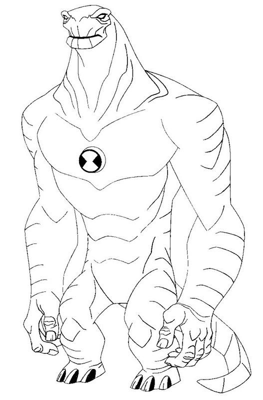 Desenho 11 De Ben 10 Para Colorir
