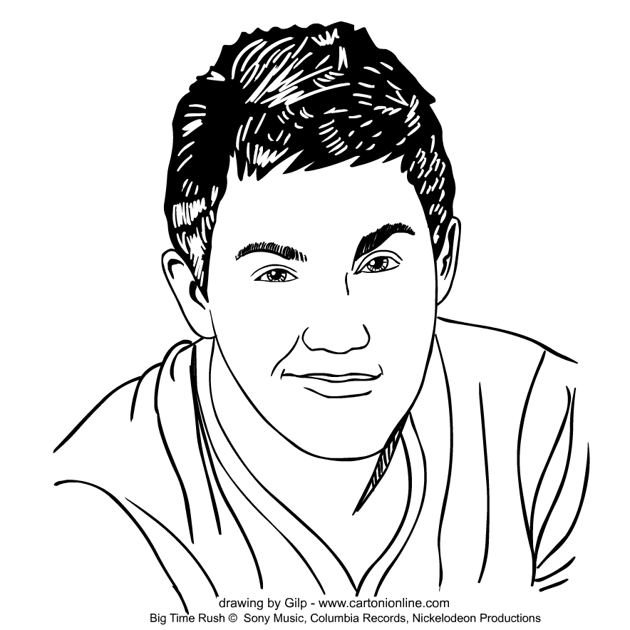 Carlos Garcia von Big Time Rush coloring page to print and coloring