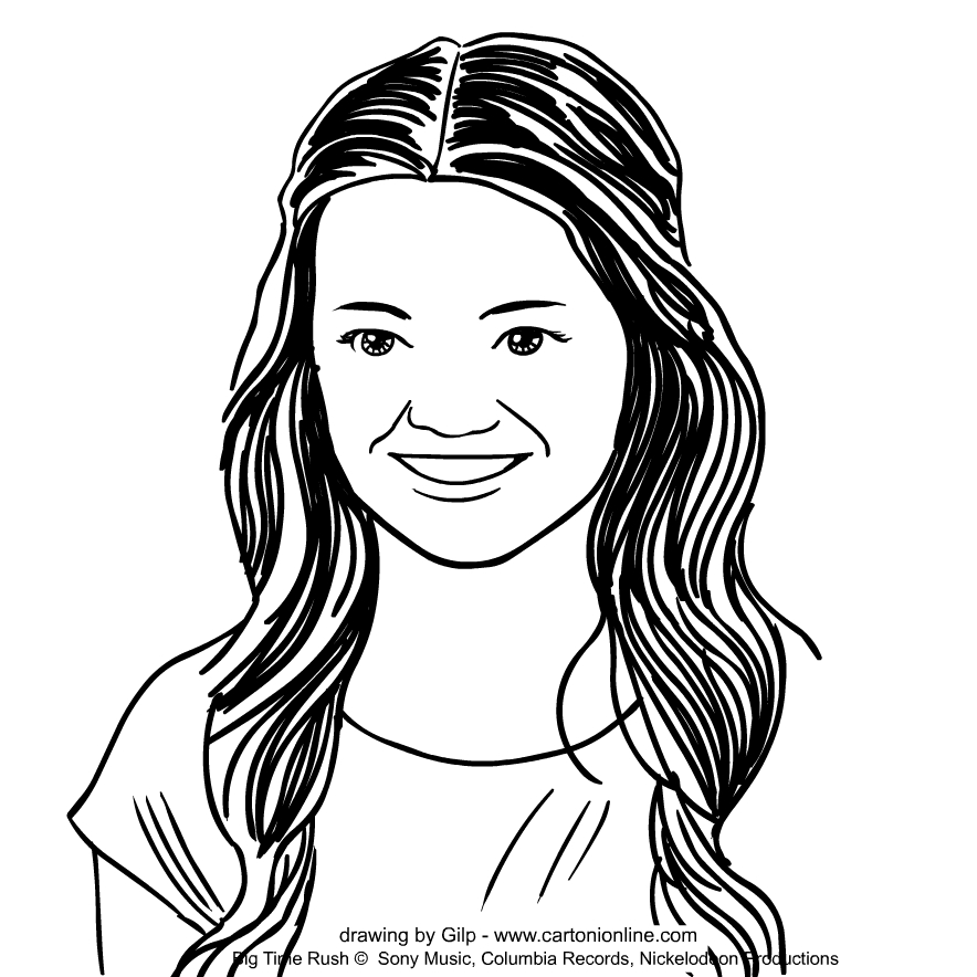 Katie Knight   von Big Time Rush coloring pages to print and coloring