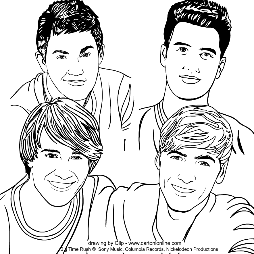 Big Time Rush coloring page to print and coloring