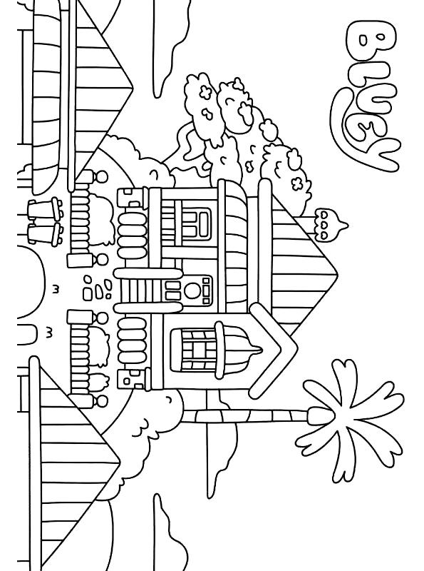 Desenho 10 de Bluey para imprimir and colorir