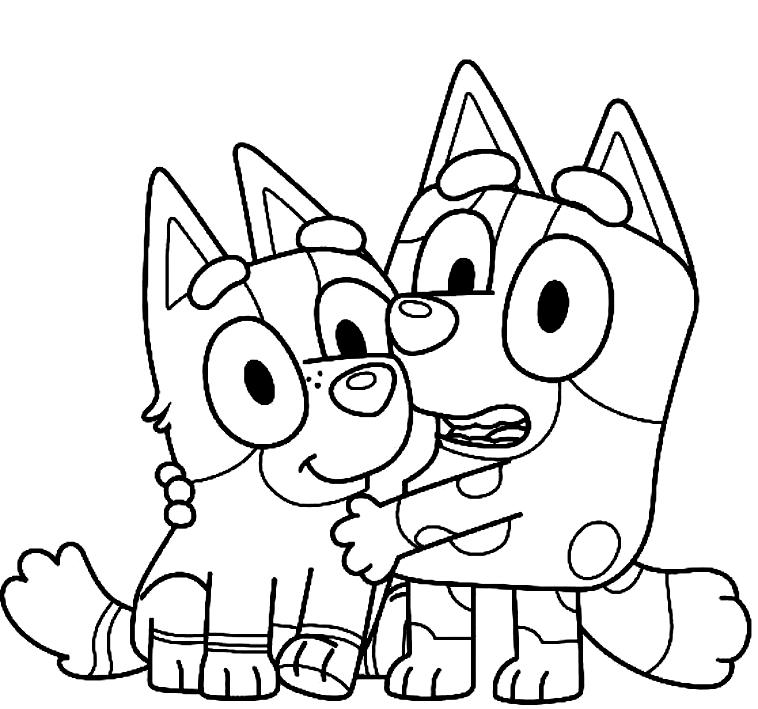Desenho 15 de Bluey para imprimir and colorir