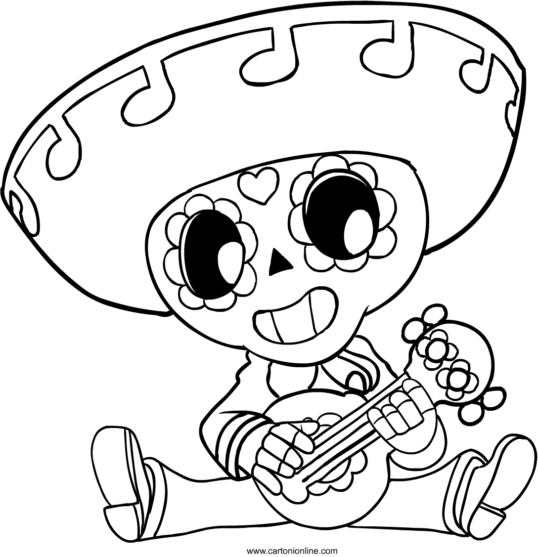 Poco from Brawl Stars coloring page