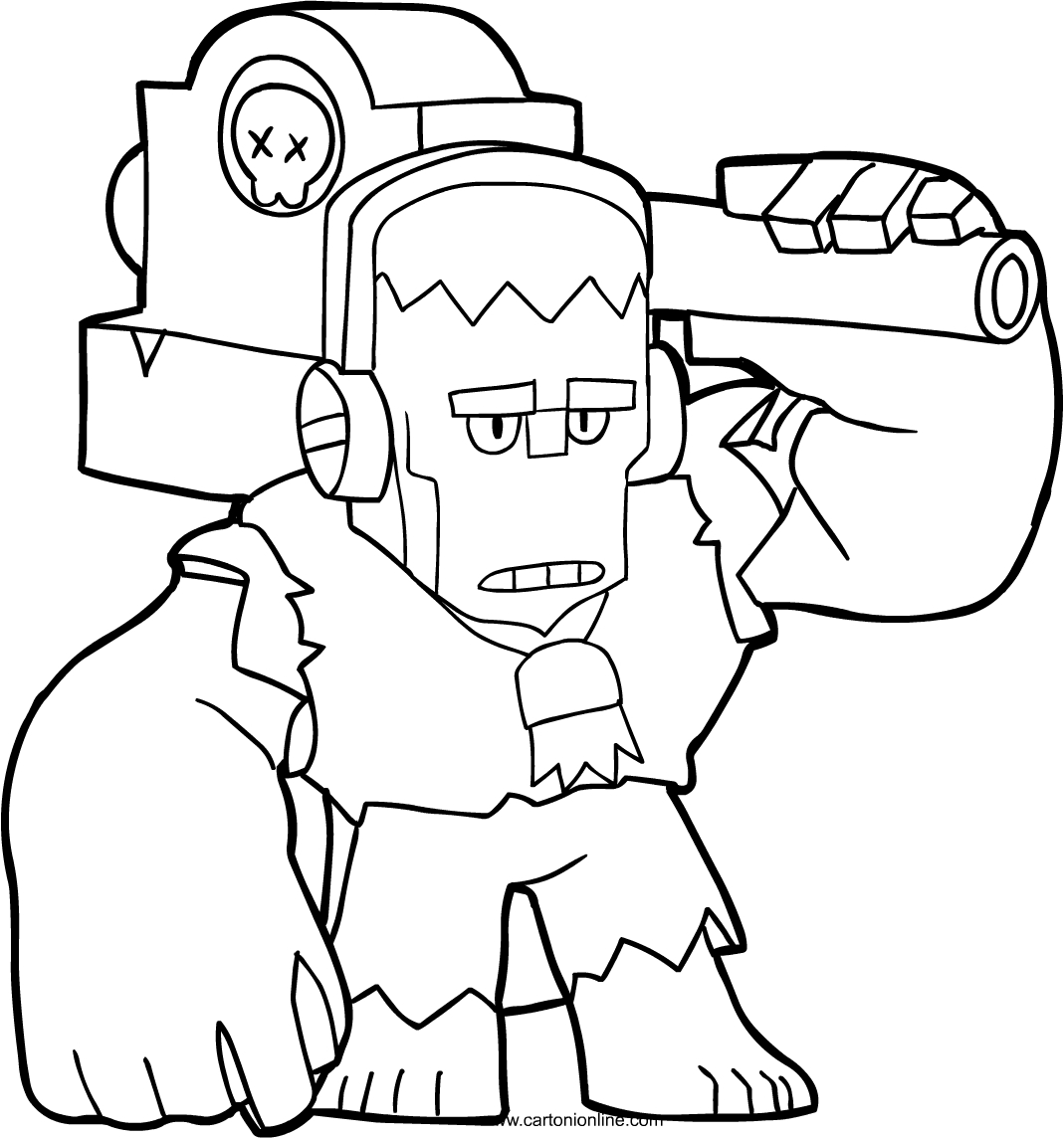 Frank From Brawl Stars Coloring Page