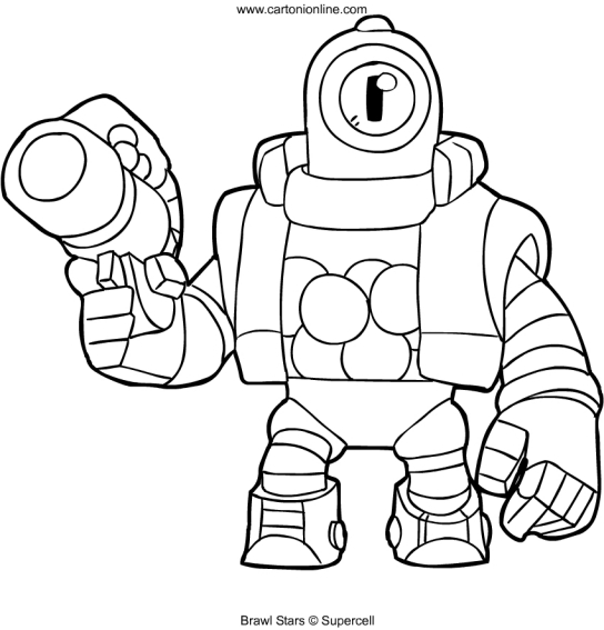 coloring and drawing brawl stars coloring pages rico
