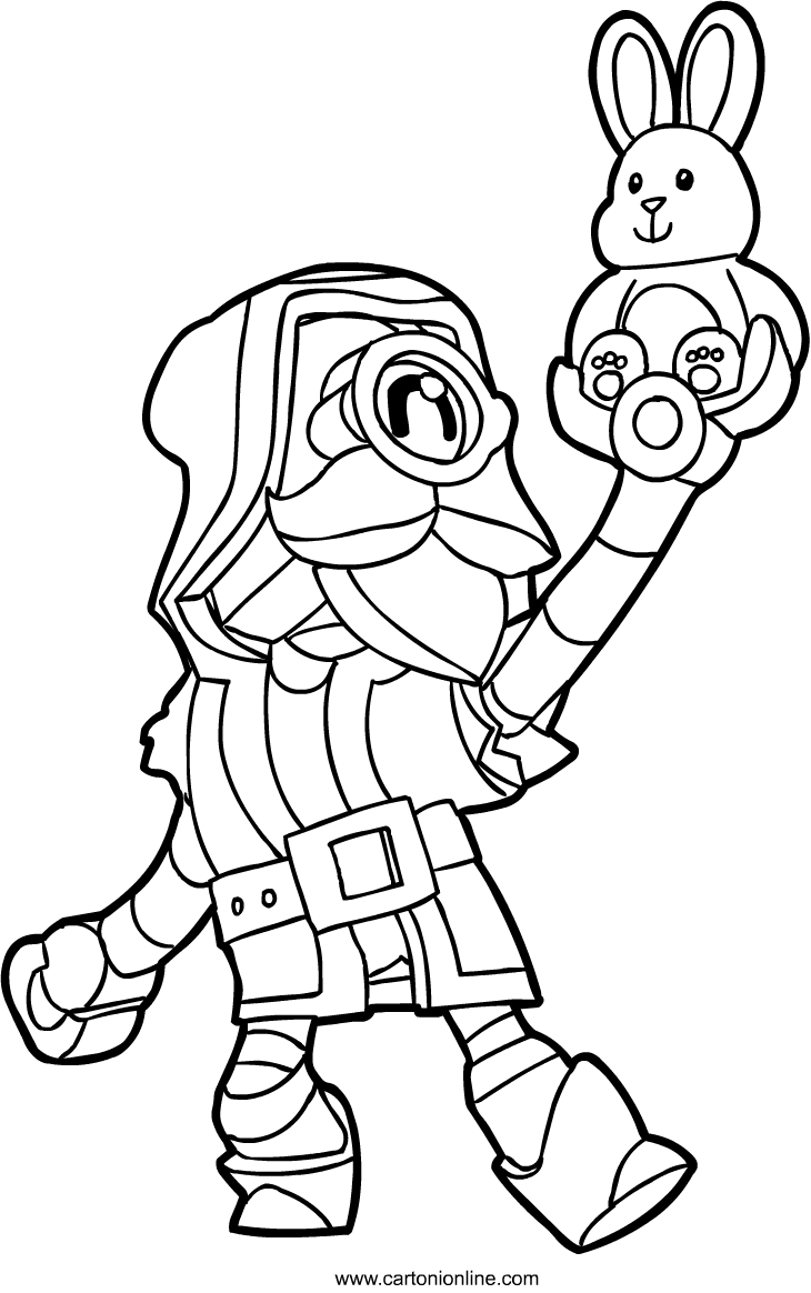 Wizard Barley from Brawl Stars coloring page