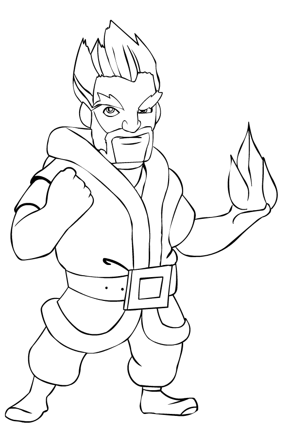 Ice Wizard from Clash Royale coloring page to print and coloring