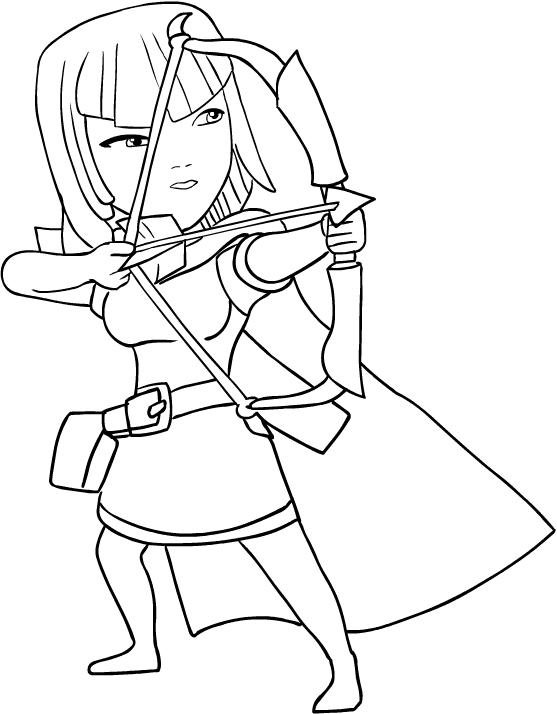 Ausmalbilder Archer Von Clash Of Clans