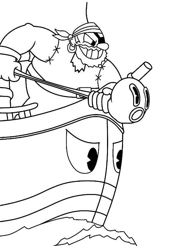 Cuphead dibujo 8 para imprimir y colorear