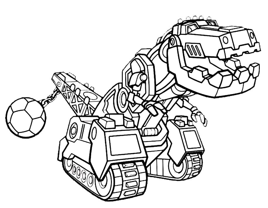 Dinotrux dibujo 2 para imprimir y colorear