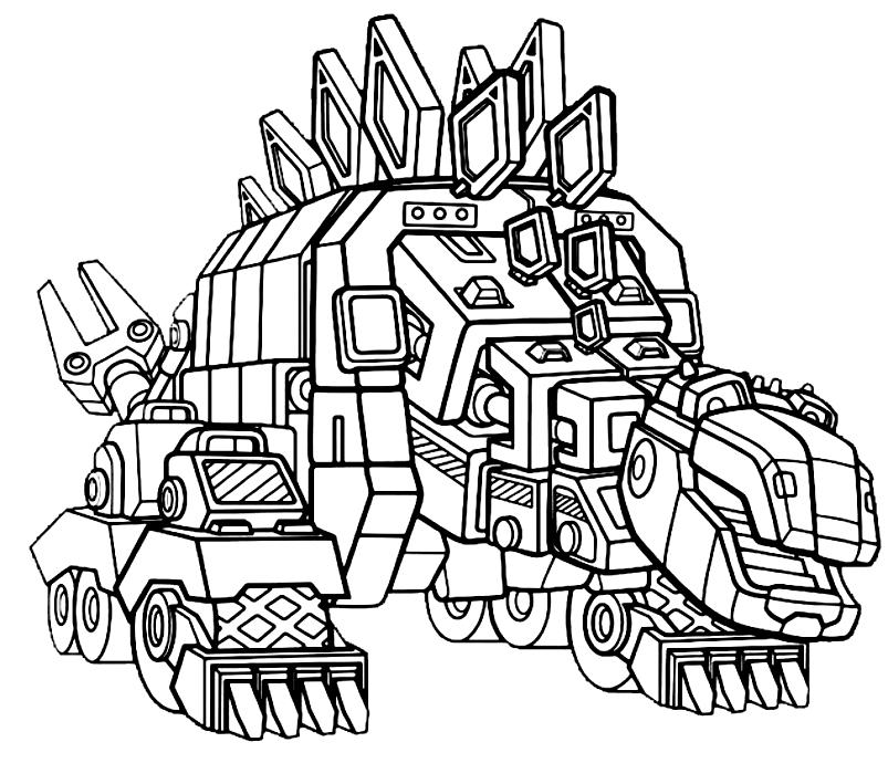 Dinotrux dibujo 4 para imprimir y colorear