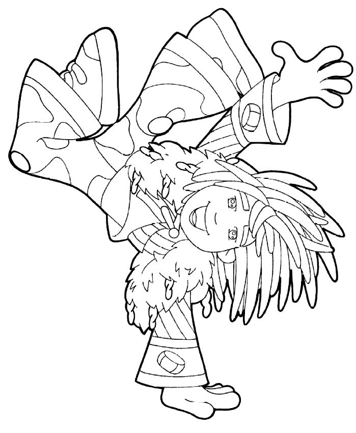 Doodlebops dibujo 5 para imprimir y colorear