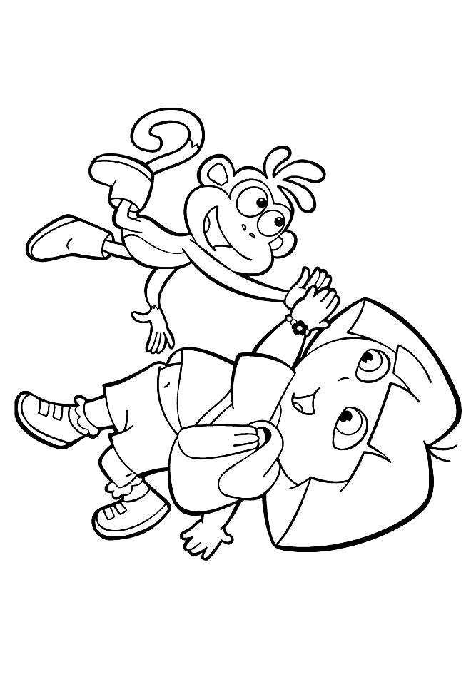 Desenho 6 De Dora A Exploradora Para Colorir